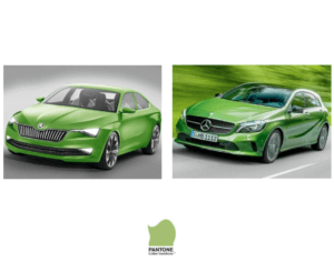 luxury cars in yellow green, image credit: Pantone