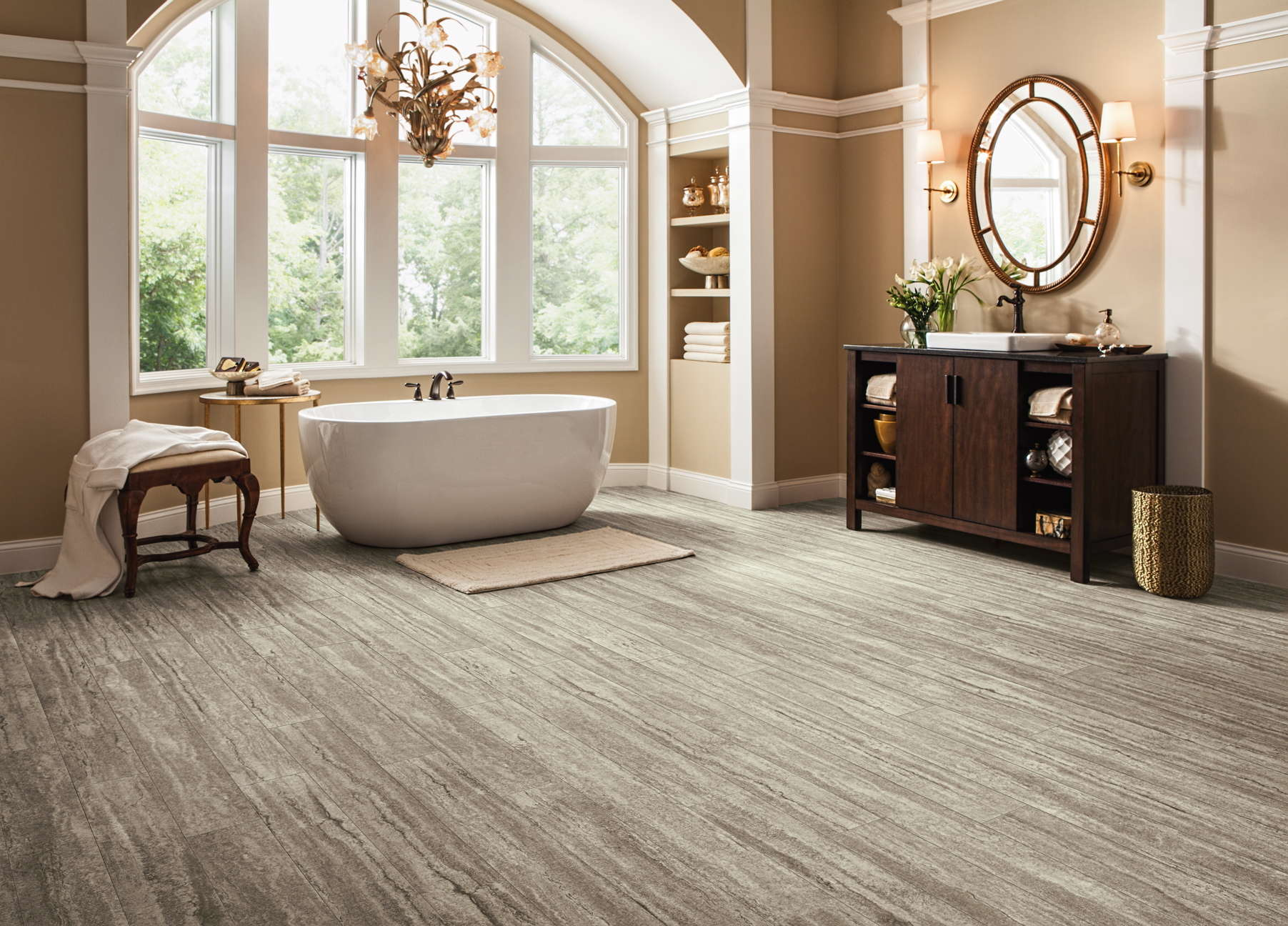Armstrong flooring debuts diamond particle collection for Armstrong flooring