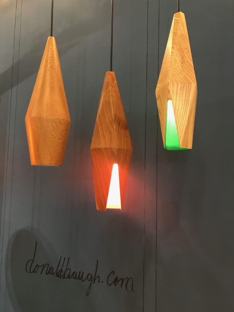 Omar Pendants made of wood by Donald Baugh. Photo Credit: The Design Tourist