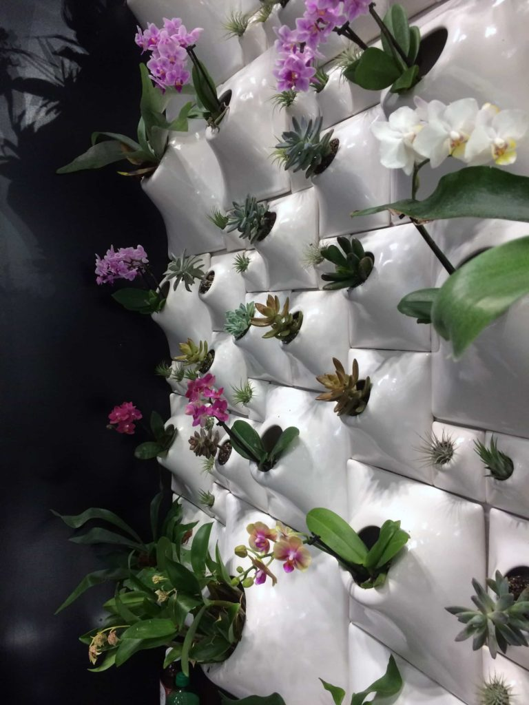 The Node Wall from The Node Collection by Pandemic Design Studio on exhibit at ICFF. Photo by: The Design Tourist