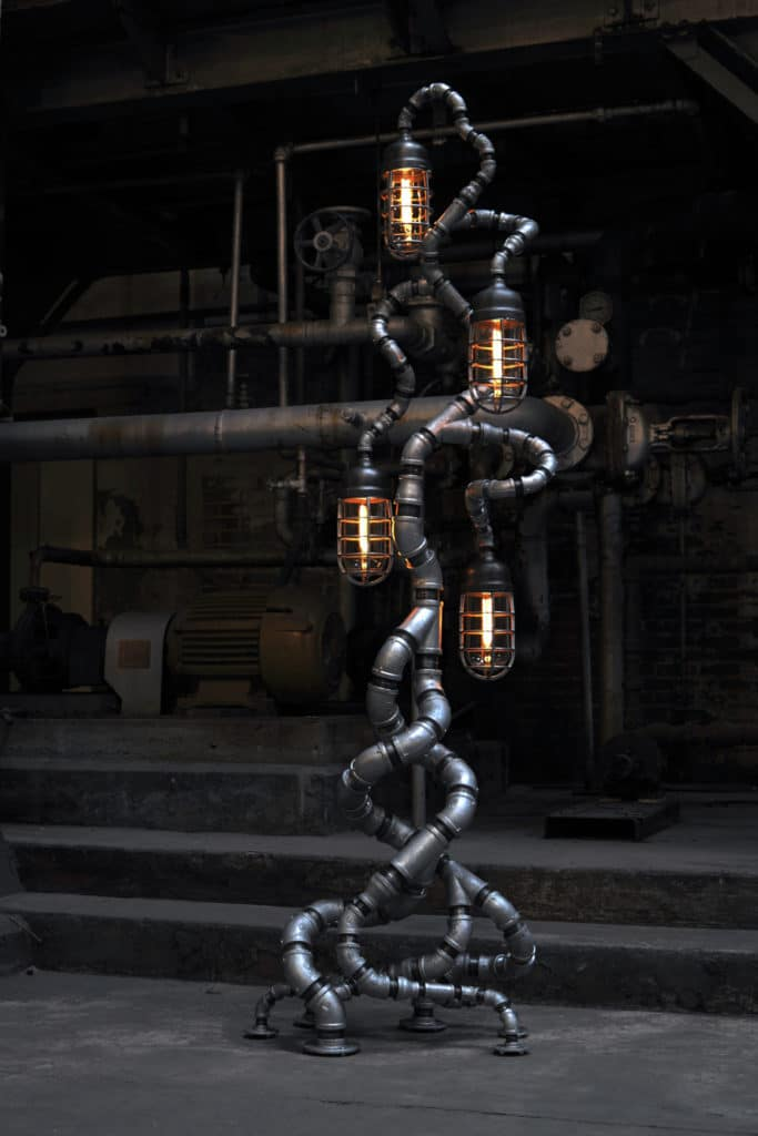 Tree of Souls light fixture by Pandemic Design Studio from the Industrial Evolution Collection on exhibit at ICFF.