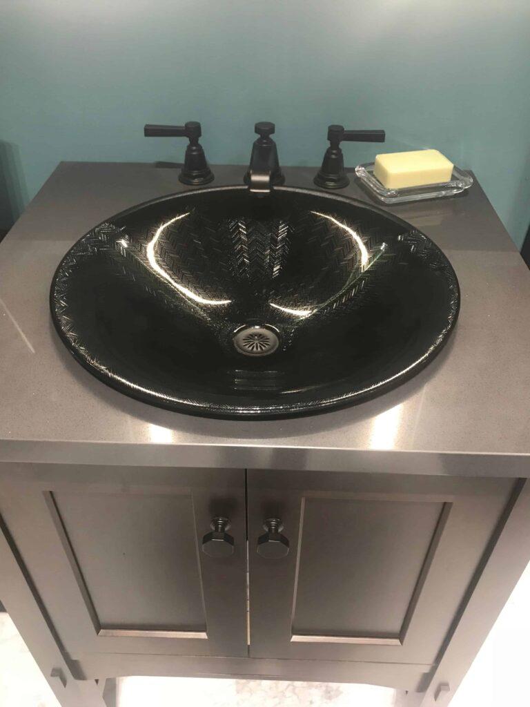 etched patterned sinks by Kohler