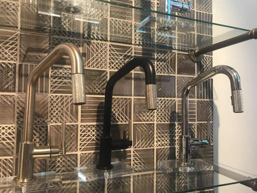 Knurled faucet heads fromtThe Litze collection by Brizo