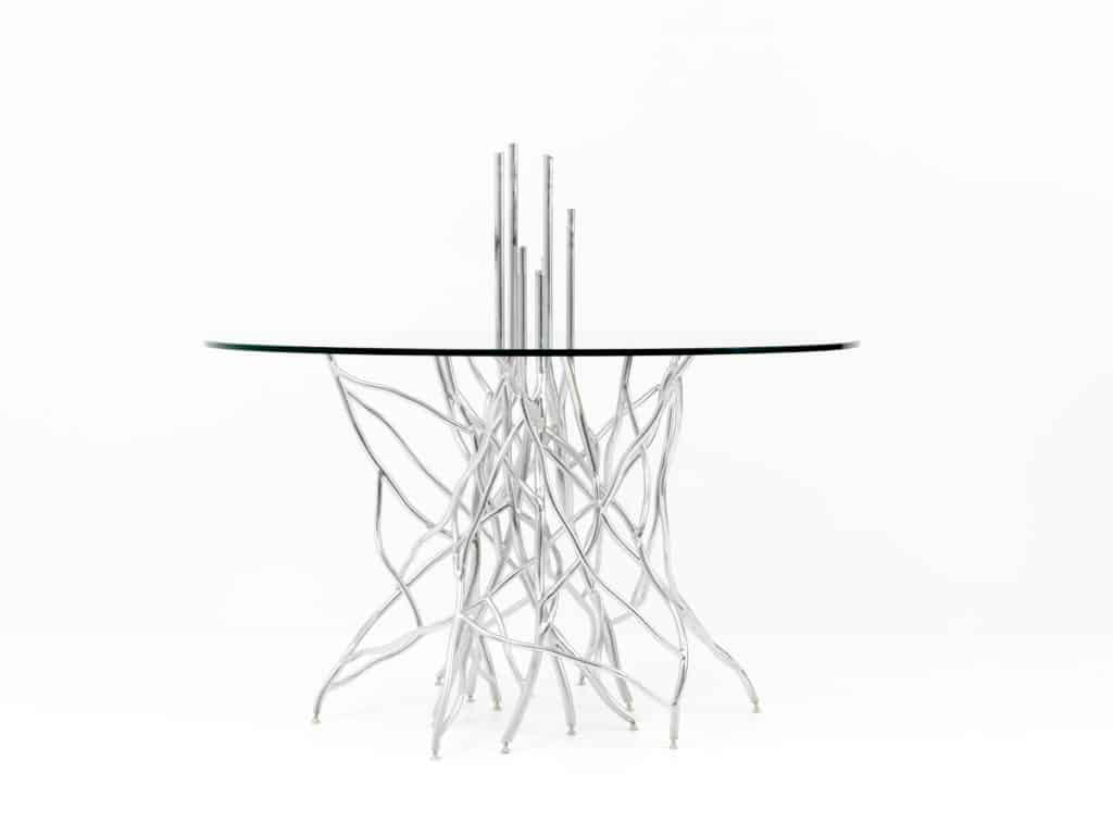 Torsion table by Foundrywood