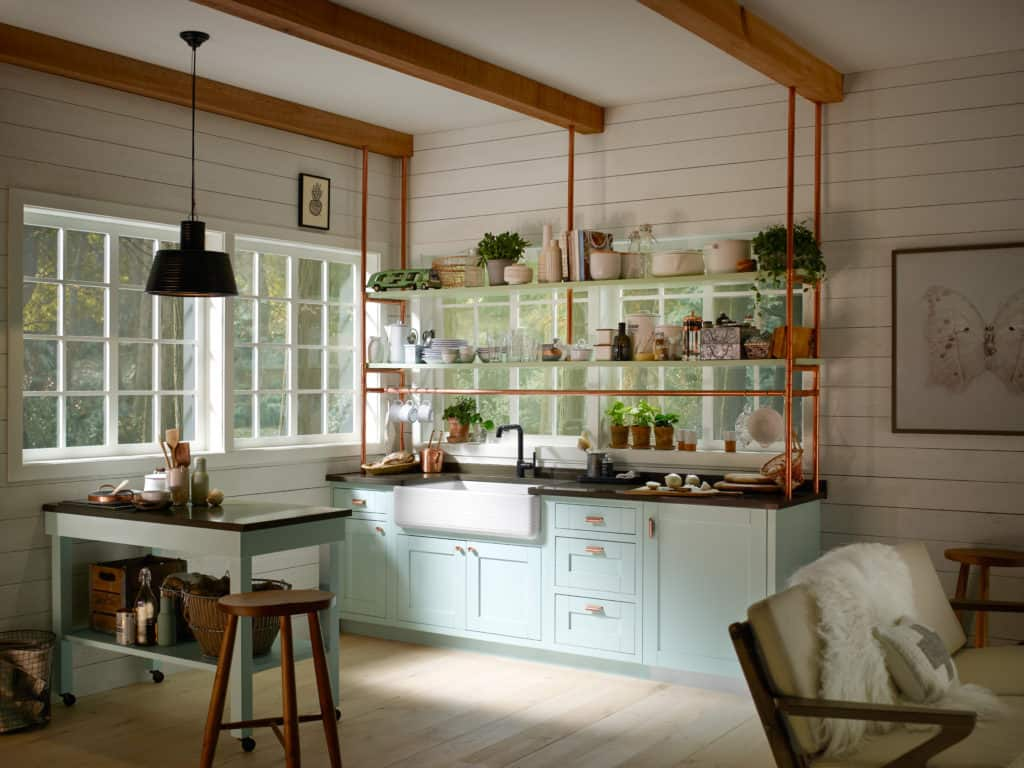 Farmhouse kitchen with an industrial edge by Kohler