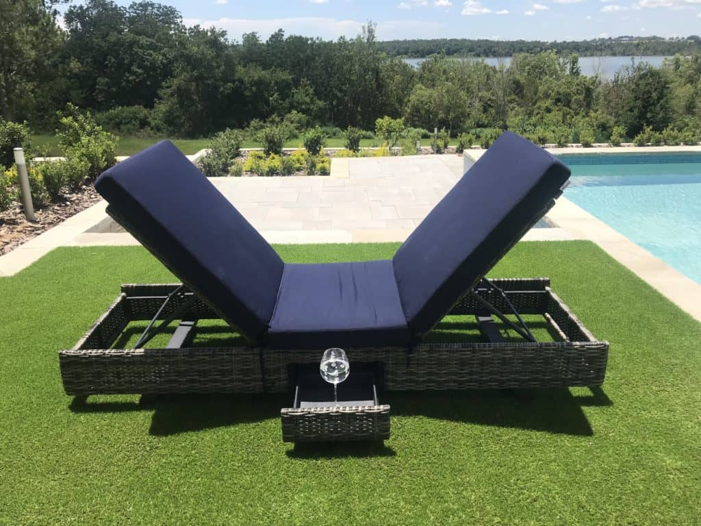 The Two Way Chaise Lounge, a better way to sunbathe. Invented by interior designer Kate Clarke. Each end of the lounge chair flips up or down so you can follow the sun's rays. Photo credit: The Design Tourist