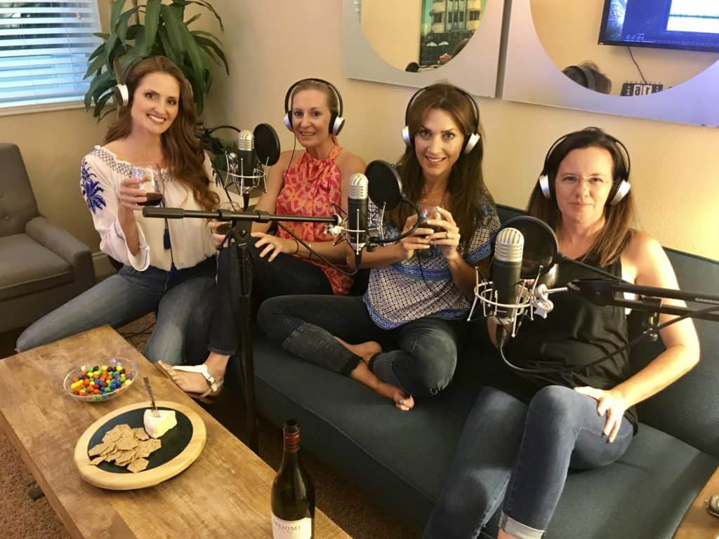 Me, Karen LeBlanc, Design Journalist, aka The Design Tourist, with the hosts of the Wives Winedown Wednesday Podcast