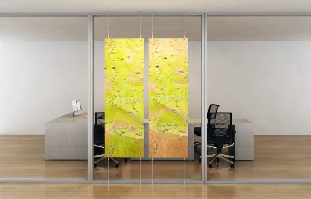 Floating Panel Workspace CoArt Acoustics