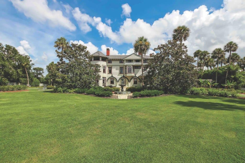 Built for Florida's first snowbird, famed hat maker John B Stetson theopulent 3 story Victorian mansion was rescued from obscurity 10 years ago to become the top-rated landmark tourist attractionin all of Florida.
