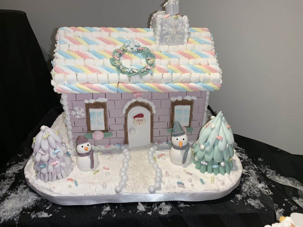 Designer Gingerbread House at Orlando Museum of Art event, Festival of Trees.