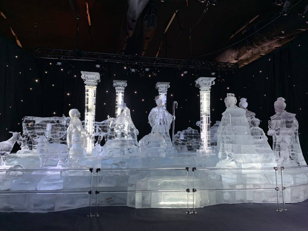 Each year, the final scene at ICE! depicts a glowing nativity scene.