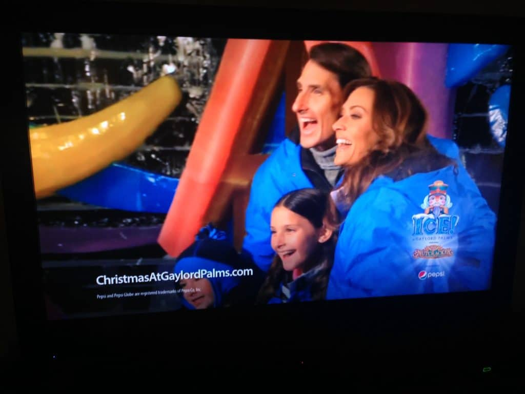 "My family appearing in a 2012 commercial for ICE! Gaylord Palms. (Over the years we've often worked doing TV and print commercials for Orlando area resorts and attractions.) Although this particular visit was ""work,"" we've attended every ICE! exhibit since it began more than 10 years ago."
