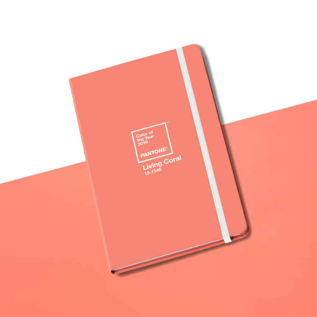 Stationery is Pantone's Color of the Year 2019 Living Coral by Brown Trout