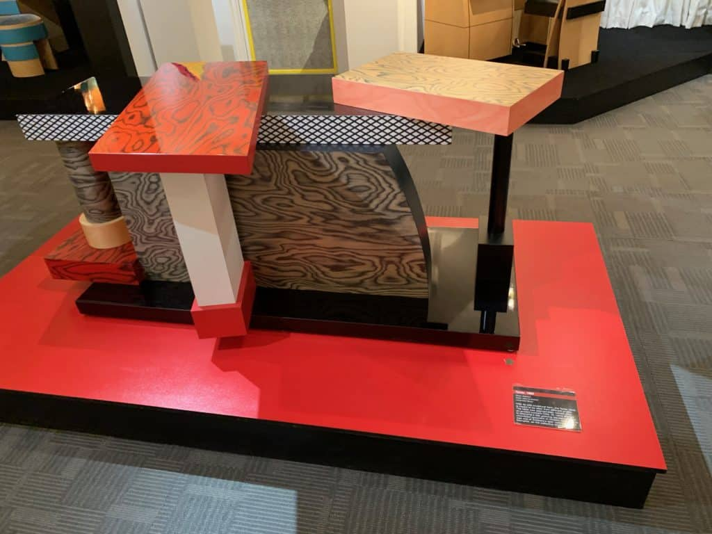 Tartar, 1985 by Ettore Sottsass. This desk is part of the Memphis Group collection and is made of laminate wood. Photo credit: The Design Tourist
