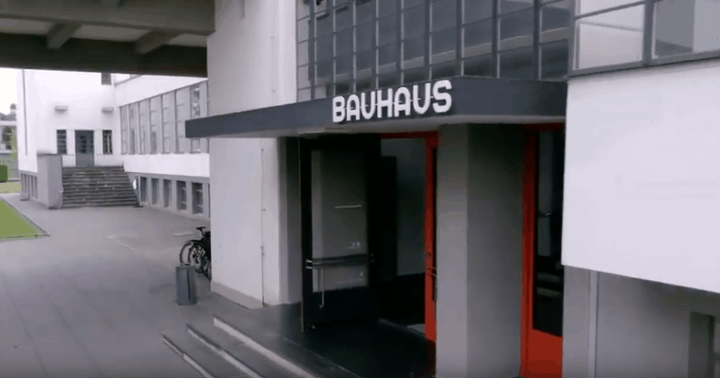 The Bauhaus School in Weimar, Germany