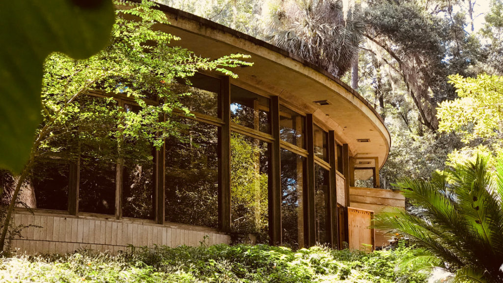 The Lewis Spring House in Tallahassee, Florida is the only residence designed by Frank Lloyd Wright in the state. There is a preservation effort underway to restore the home.
