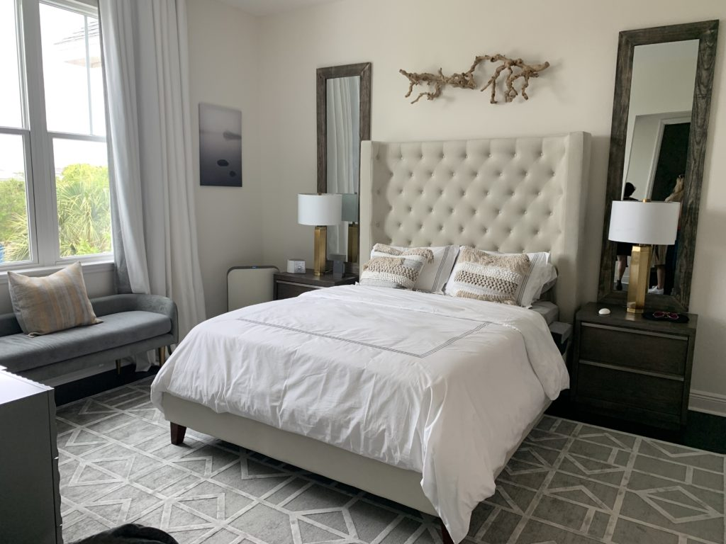 Sleep Sanctuary in the WHIT House is a partnership with SleepScore Labs and features products exclusively curated and validated by the sleep science team at SleepScore Labs. Photo Credit: The Design Tourist