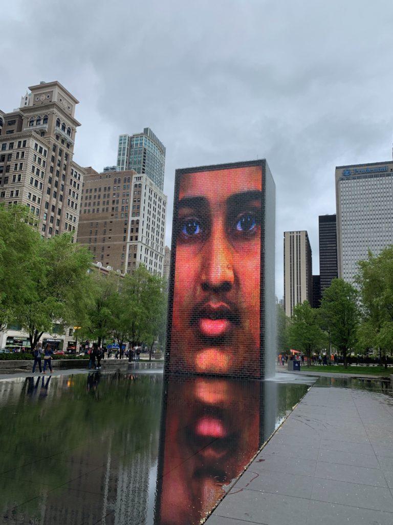 Crown Fountain by Jaume Plensa in Millennium Park, Chicago