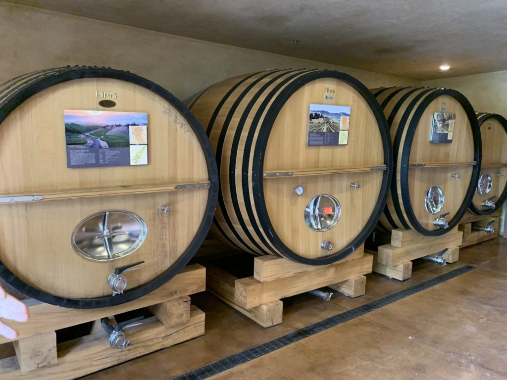 Quivira ages its wines in a combination of steel tanks and oak barrels.