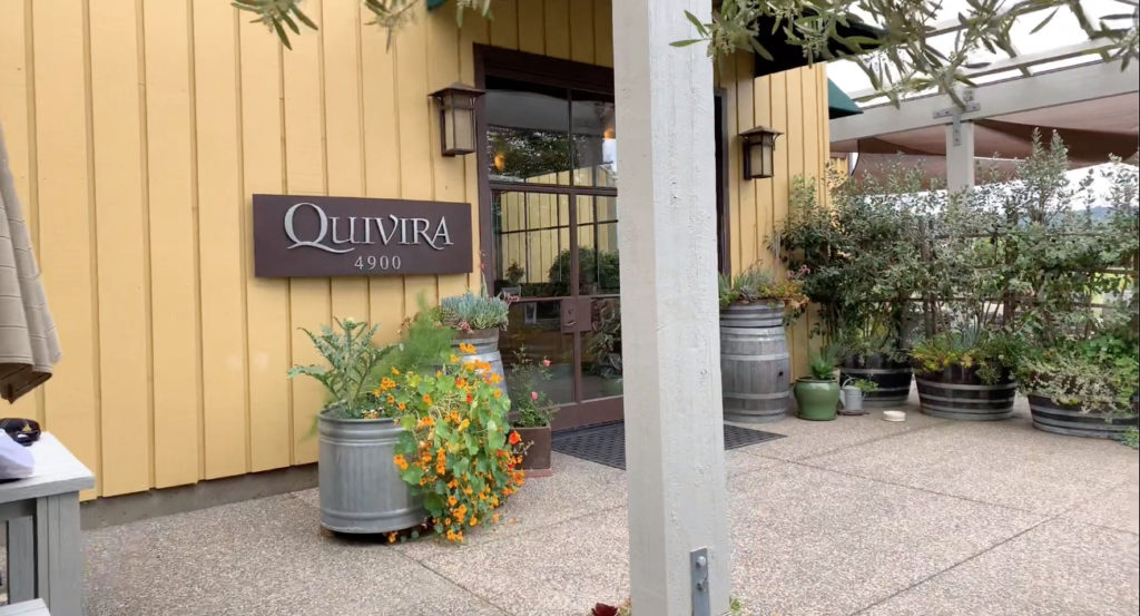 Quivira's Wine Creek Ranch in Dry Creek Valley location is open for tours and tastings