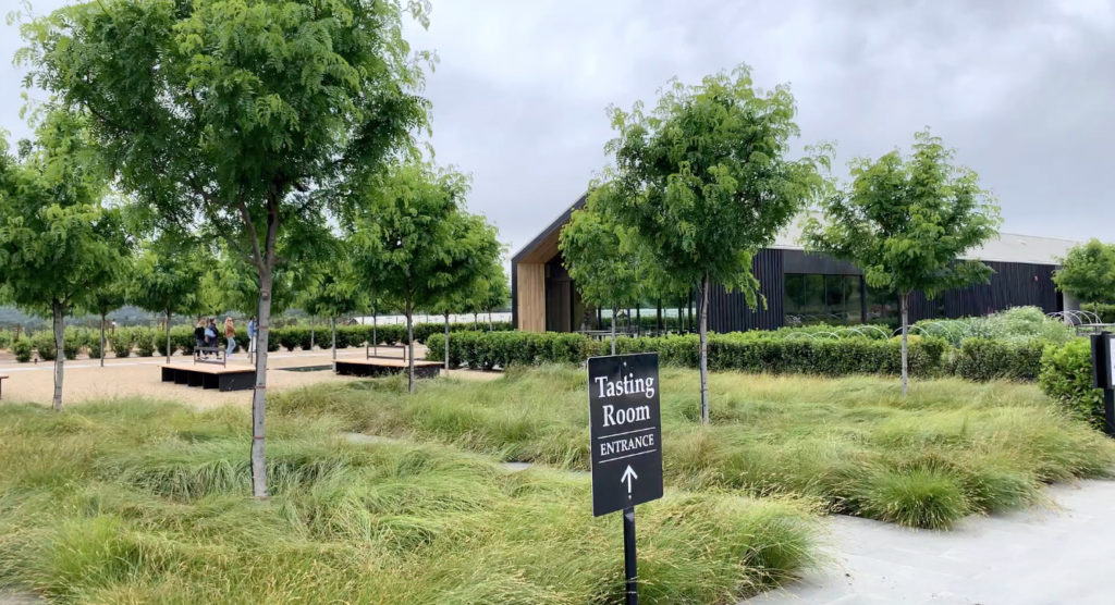 Silver Oak's LEED Platinum Certified tasting room at its Alexander Valley vineyards.