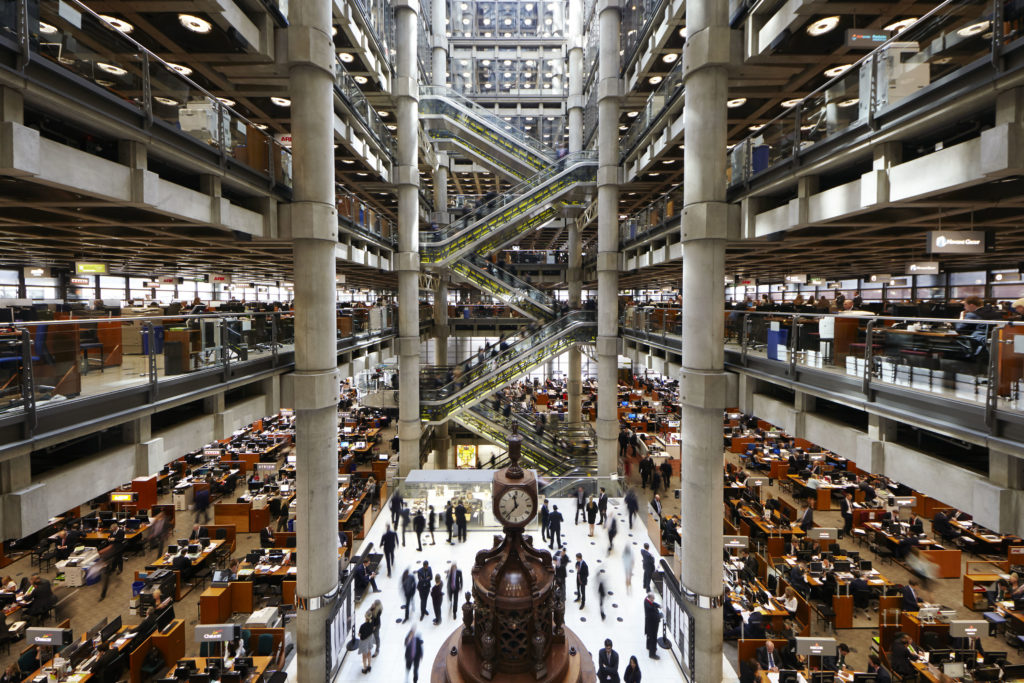 Interior view of The Lloyd's Building on Lime Street. photo credit: Lloyd's of London