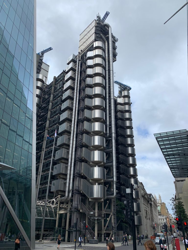 The Lloyd's Building on Lime Street. photo credit: Karen LeBlanc, aka The Design Tourist