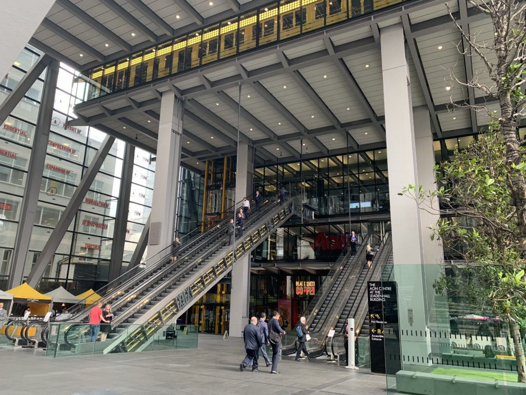 Entrance to the Leadenhall Building located at 122 Leadenhall Street photo credit: Karen LeBlanc, aka The Design Tourist