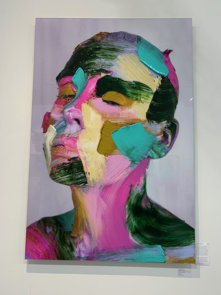 Sophie Derrick self-portrait on view during PULSE Art Fair. For more go to www.degreeart.com