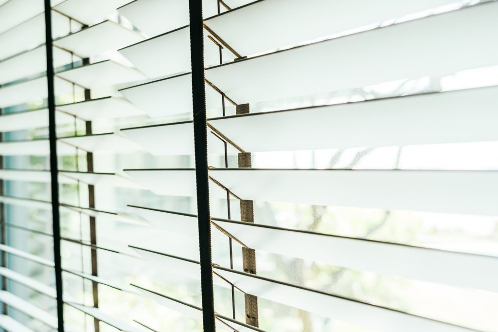 Beautiful blinds window decoration interior of room