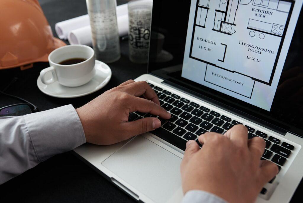 Examining house plan