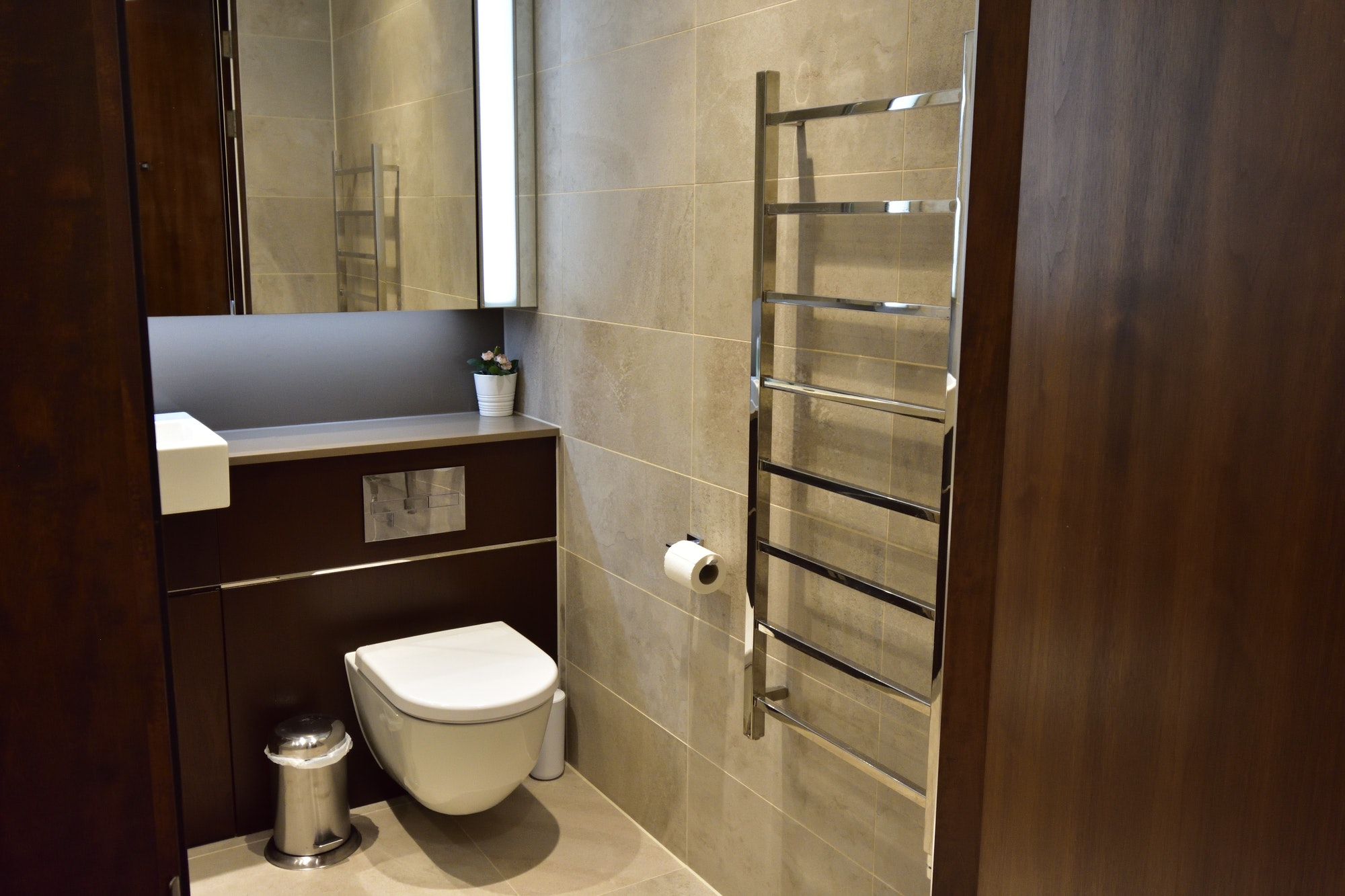 A bathroom in the apartment
